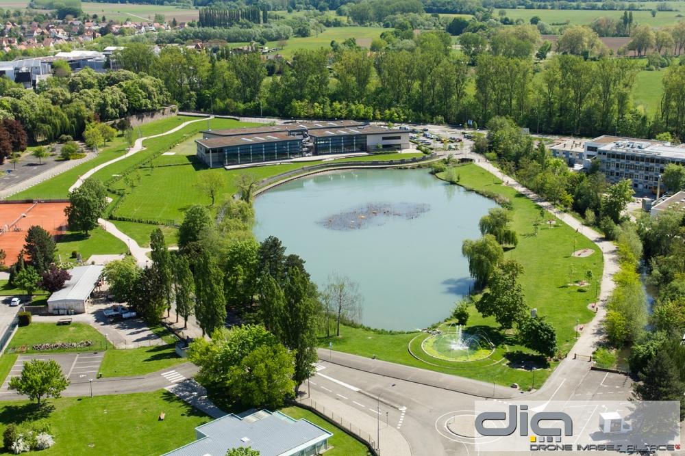 Drone images alsace for Piscine selestat