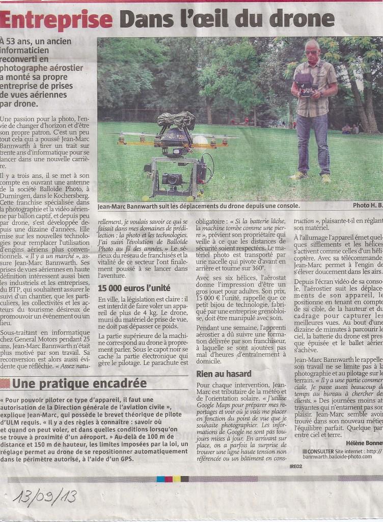 Article paru dans L'Alsace du 13 septembre 2013